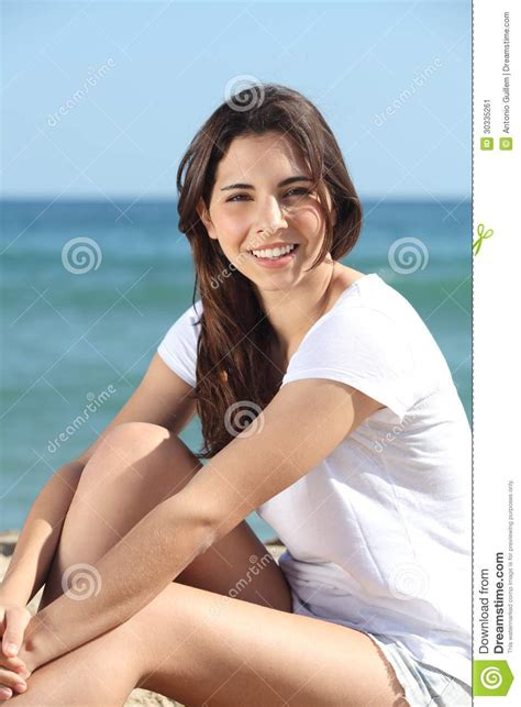 beautiful teen portrait of a beautiful teen on the beach stock image