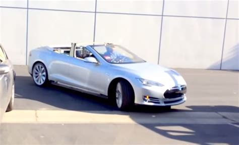 Convertible Tesla Model S Update Tesla Model S Convertible Went Up