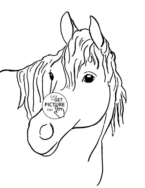 horse face coloring pages