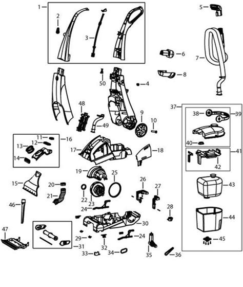 bissell proheat parts diagram bissell 25a3 proheat cleaner parts usa vacuum