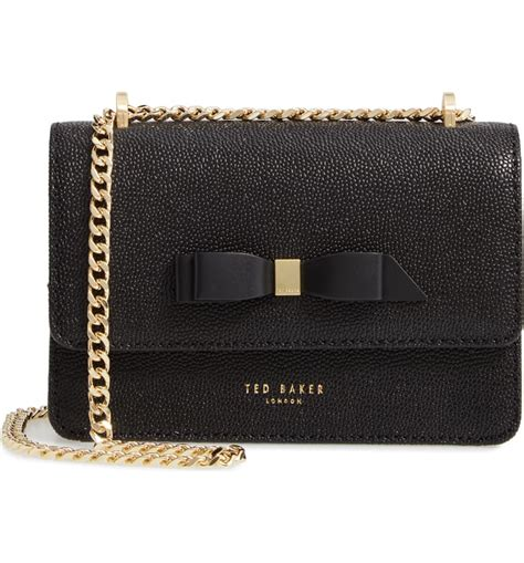 ted baker london jayllaa bow leather crossbody bag nordstrom