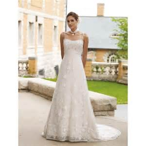 Line empire waist lace wedding dress wedding dresses