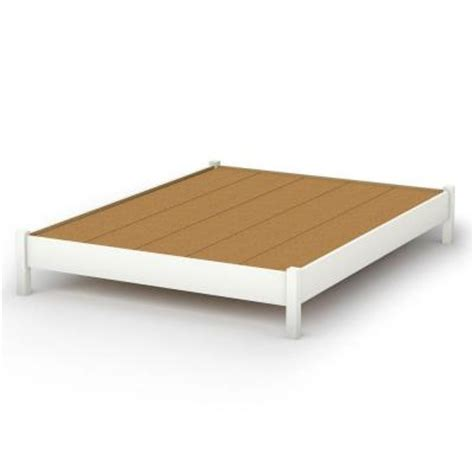Elevated Platform Bed South Shore Furniture Bedtime Story Size Elevated Platform Bed In White 3050203 The