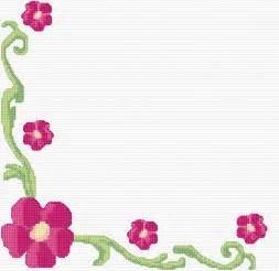 cross stitch floral border 3 xstitch chart design