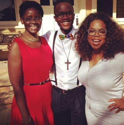oprah winfrey family oprah invites lupita nyong o s mother brother for lunch