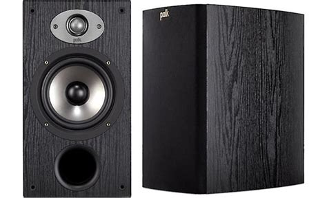 polk audio tsx220b black bookshelf speakers at