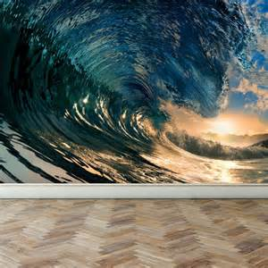 wave wall mural wall mural ocean wave peel and stick repositionable fabric