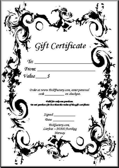 personalized gift certificates template free guitar picks and custom printed guitar picks by pickfactory
