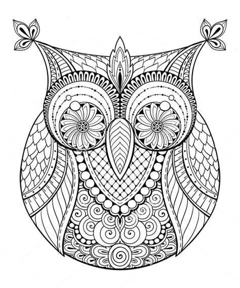owl zentangle coloring page 650 best hibou images on pinterest barn owls owl