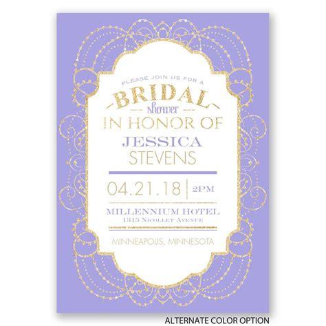 glitter bridal shower invitations glamorous faux glitter bridal shower invitation