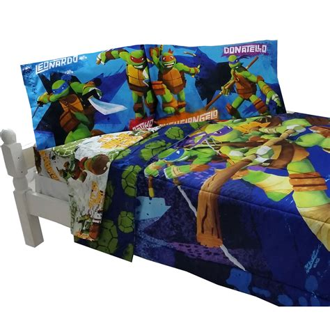 5pc teenage mutant ninja turtles power full bedding set