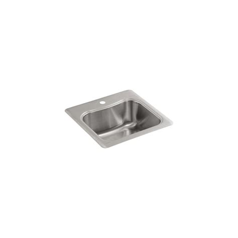 Kohler Staccato Kitchen Sink by Kohler Staccato Top Mount Stainless Steel 20 In Single