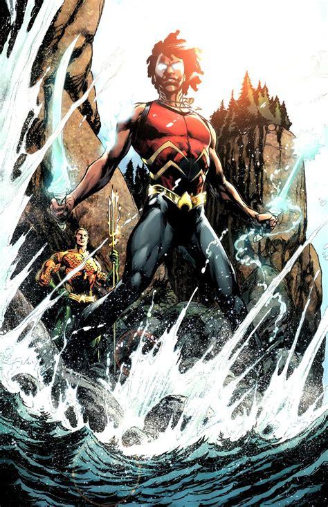 aqualad jackson hyde  ivan reis dc comics art black comics superhero