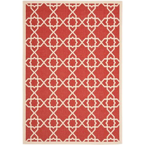 indoor outdoor rugs home depot safavieh courtyard beige 8 ft x 11 ft indoor outdoor