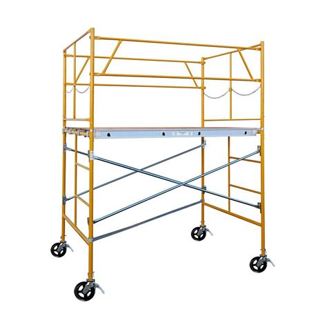 fortress 6 ft x 7 ft x 5 ft rolling scaffold tower 2000
