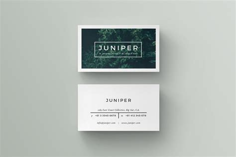 business card templat j u n i p e r business card on behance
