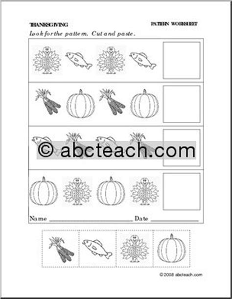 pattern worksheet cut and paste 12 best images of fall pattern worksheets fall pattern
