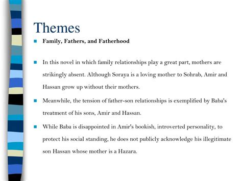 the kite runner themes father and son ppt the kite runner by khaled hosseini there is a way to