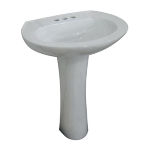 Aquasource Bathroom Sink by Aquasource White Vitreous China Pedestal Vessel Sink