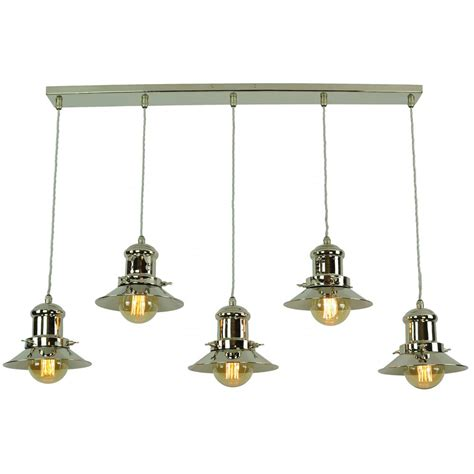vintage fisherman style kitchen island pendant with 5 hanging lights