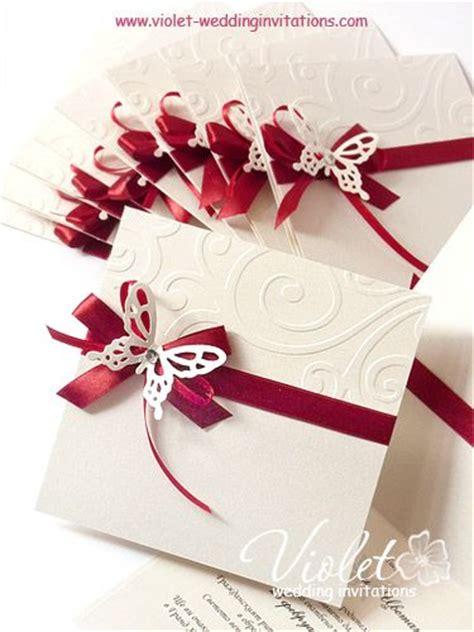 Handmade Wedding Invitation Cards - quot finesse quot wedding invitation violet handmade wedding