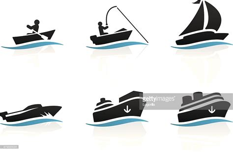 boat fishing icon boat icons vector art getty images