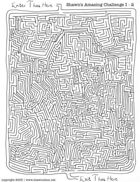 printable maze with no solution amazing challenge ii