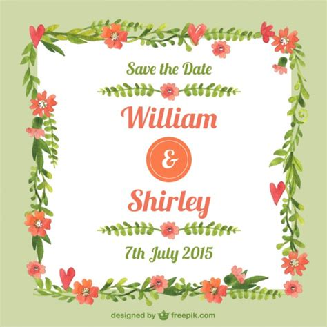 Wedding Card Frames by Painted Floral Frame Wedding Card Vector Free