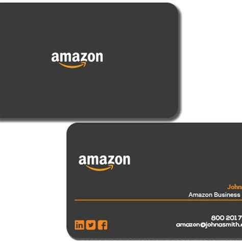 amazon business business card design for amazon business owner business