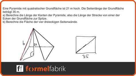 Walmdach Volumen Berechnen by Pythagoras Fehlende Gr 246 223 En In Der Pyramide Berechnen