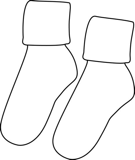 sock black and white clip sock cliparts co