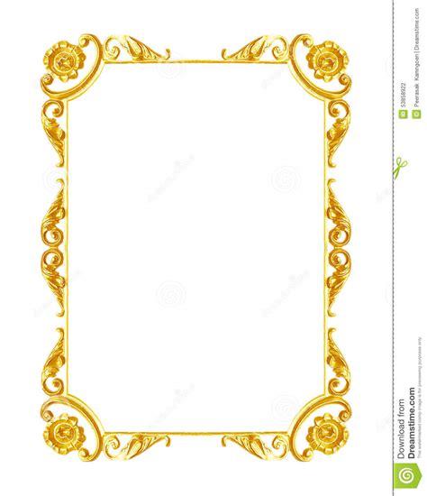 frame design gold ornament elements vintage gold frame floral designs stock