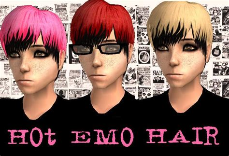 sims 2 emo hair mod the sims multicoloured scene emo hair