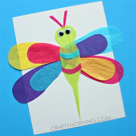 Tissue Paper Arts And Crafts For - best 25 dragonfly crafts ideas on