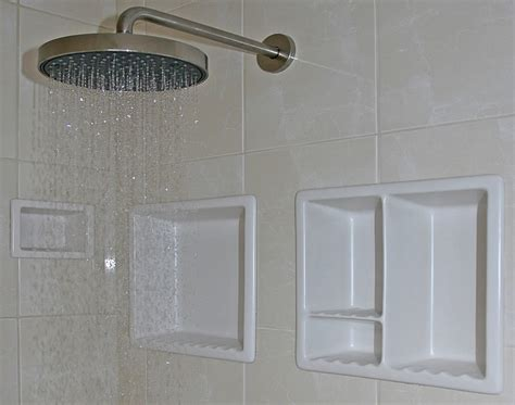 bathroom shoo soap shelf dish shower niche recessed