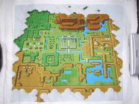 legend of zelda map cross stitch zelda map cross stitch yes i m a nerd pinterest
