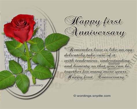 Wedding Anniversary Message by 1st Wedding Anniversary Messages Wordings And Messages