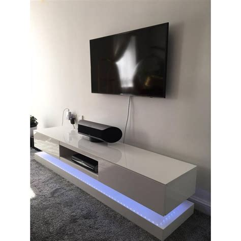 Sven   high gloss TV unit with LED lights   TV stands