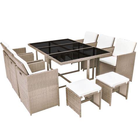 vidaXL 27 Piece Outdoor Dining Set Grey Poly Rattan