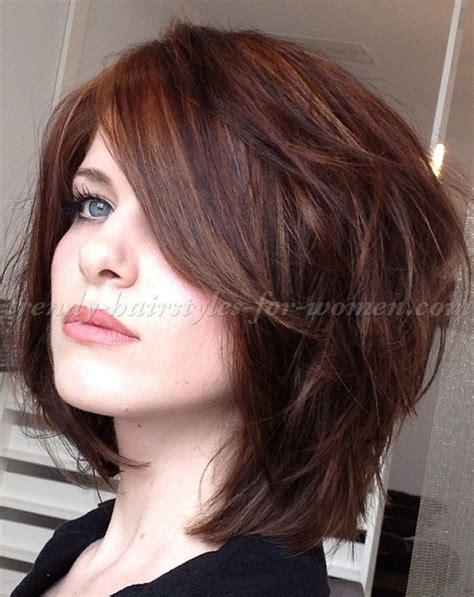 Layered Medium Hairstyles by Medium Length Haircuts Wavy Thick Hair
