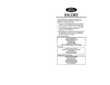 download car manuals pdf free 2003 ford escort zx2 parking system download 1996 ford escort owner s manual pdf 387 pages