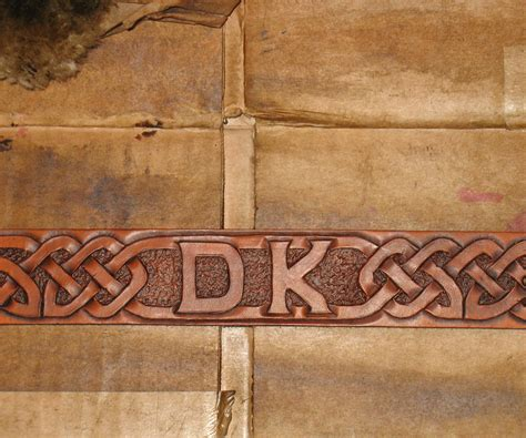 design and make design and make celtic knotwork leather belt