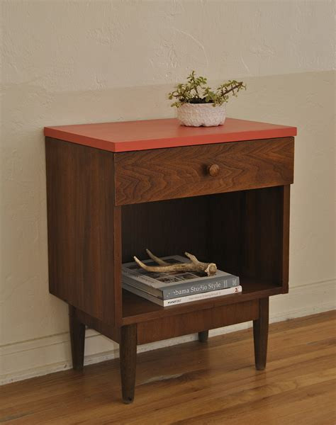 mid century accent table vintage mid century side table end table nightstand accent