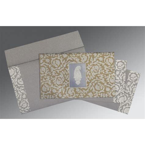 Screen Printing Wedding Invitations by Black Screen Printed Wedding Invitation G 1371