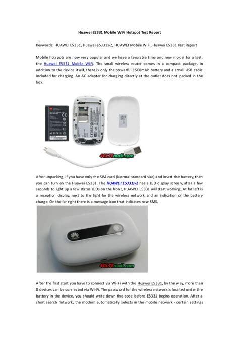 Wifi Huawei E5331 huawei e5331 21mbps mobile wifi test