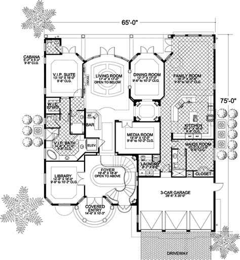 two story florida house plans florida style house plans 6664 square foot home 2 story 6 bedroom and 6 bath 3