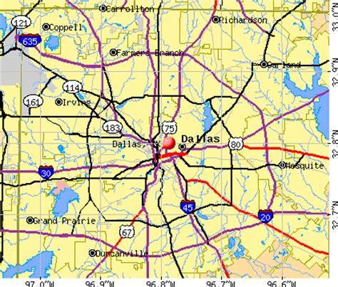 show me a map of dallas texas dallas texas tx profile population maps real estate averages homes statistics