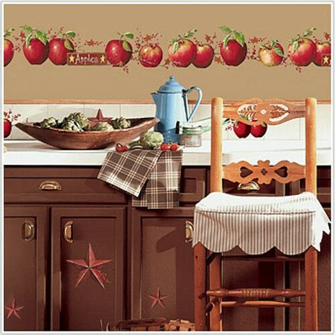country apples wall stickers 40 big decals berry vine rustic room decor ebay