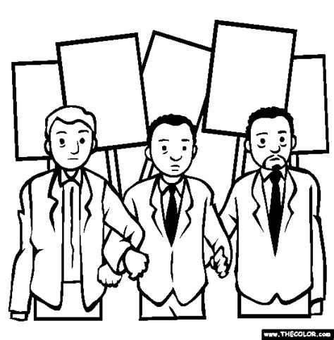 Civil Rights Coloring Pages free coloring pages thecolor
