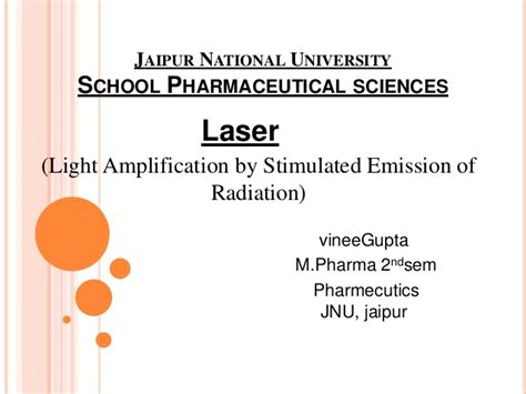 Light Lification By Stimulated Emission Of Radiation by Laser